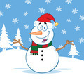 Happy Snowman Character With Open Arms - PhotoDune Item for Sale
