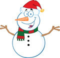 Happy Snowman Cartoon Mascot Character With Open Arms  - PhotoDune Item for Sale