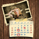Retro Photos Calendar Template 02 - GraphicRiver Item for Sale
