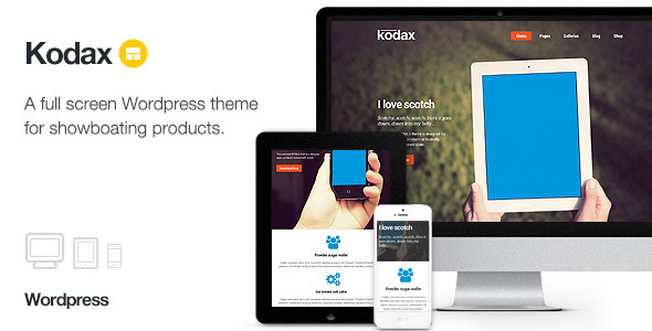Kodax - Full Screen Landing Page - Marketing Corporate