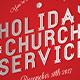 Holiday Church Service Flyer Template - GraphicRiver Item for Sale