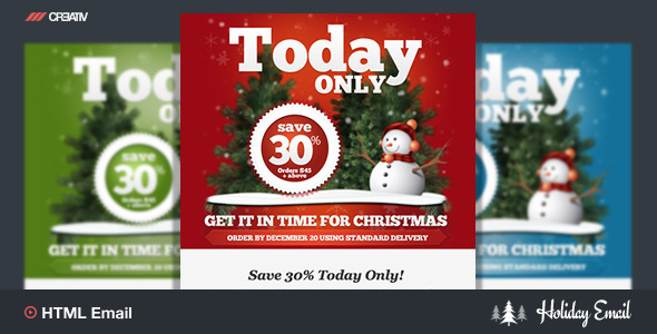 Holiday 4 Responsive Email Template - Email Templates Marketing