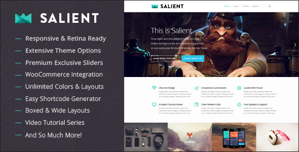 Salient. Theme responsive para WordPress