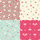 Set of Four Romantic Seamless Pattern - GraphicRiver Item for Sale