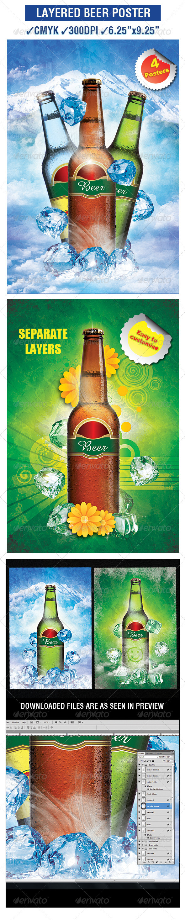 Beer Poster Template - Clubs & Parties Events