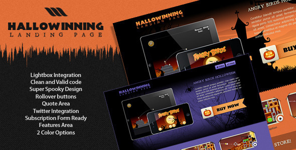 Hallowinning Landing Page - Creative Landing Pages