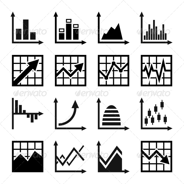 GraphicRiver Business Chart and Graphics Icons Set 6356544