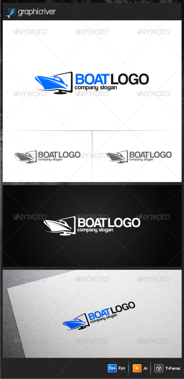 GraphicRiver Boat Logo Templates 6357029