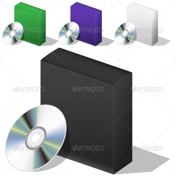 GraphicRiver Box for DVD with a Disk 6357171