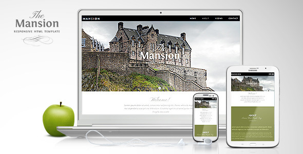 Mansion - Responsive One-Page Site Template - Corporate Site Templates