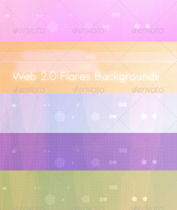 Web 2.0 Flares Background - Backgrounds Graphics