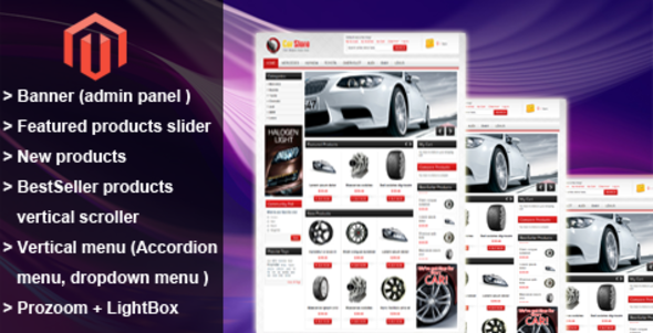 Accessories Car Magento Theme - ThemeForest Item for Sale