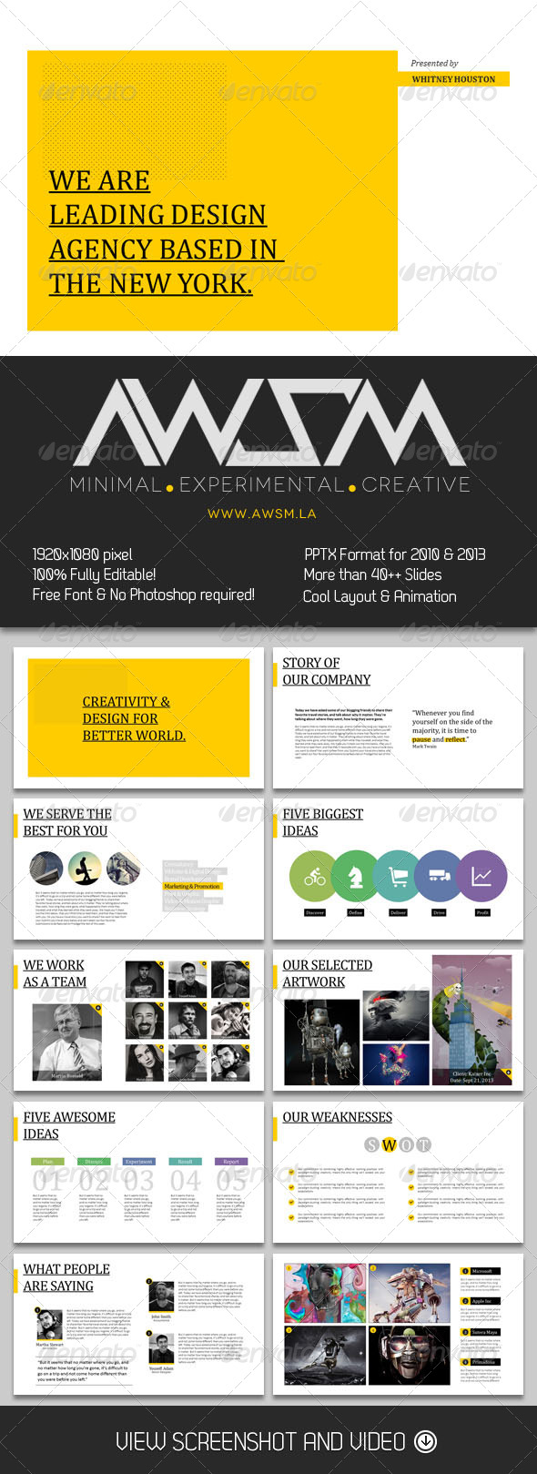 GraphicRiver Biz Minimal PowerPoint Template 6357928