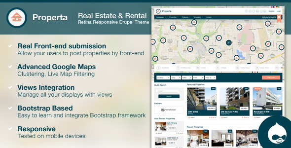 Properta - Real Estate Drupal Theme - Business Corporate
