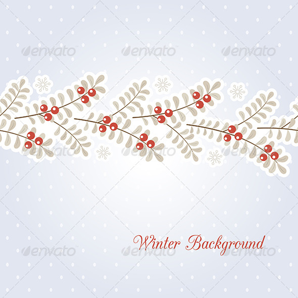 GraphicRiver Winter Background 6358301