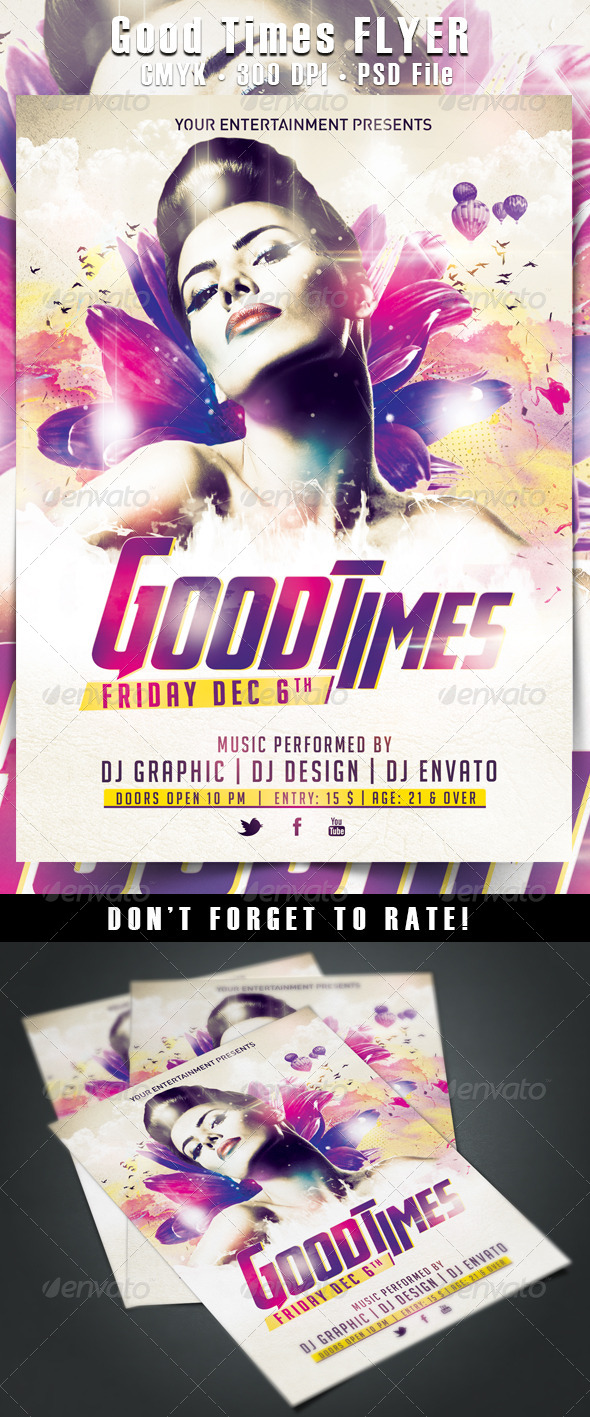 Good Times Flyer - Clubs & Parties Events