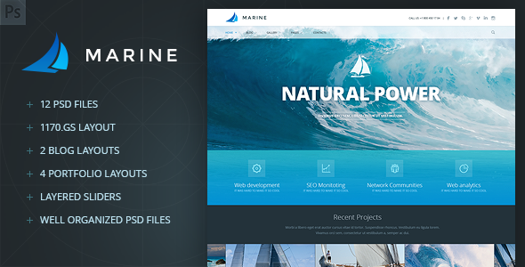 00 preview.  large preview Marine PSD Template (Corporate)