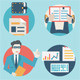 Set of Business Analytics and E-Commerce Icons - GraphicRiver Item for Sale