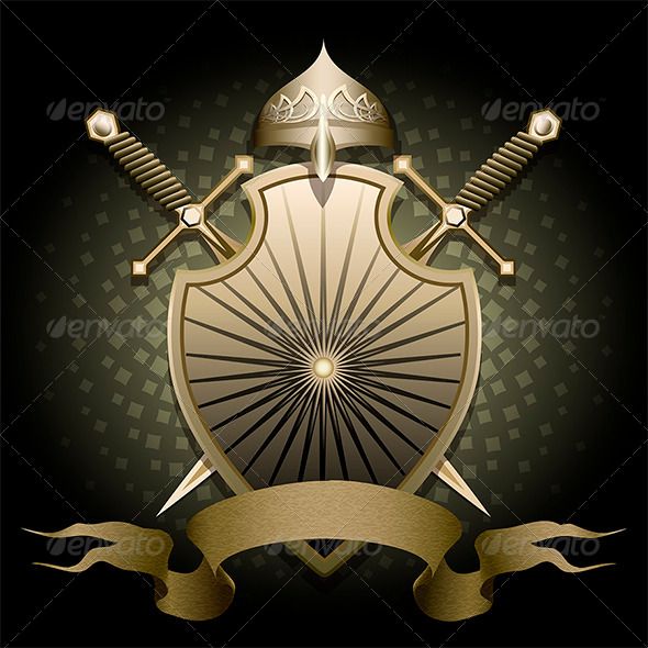 GraphicRiver The Shield and Helmet 6358930