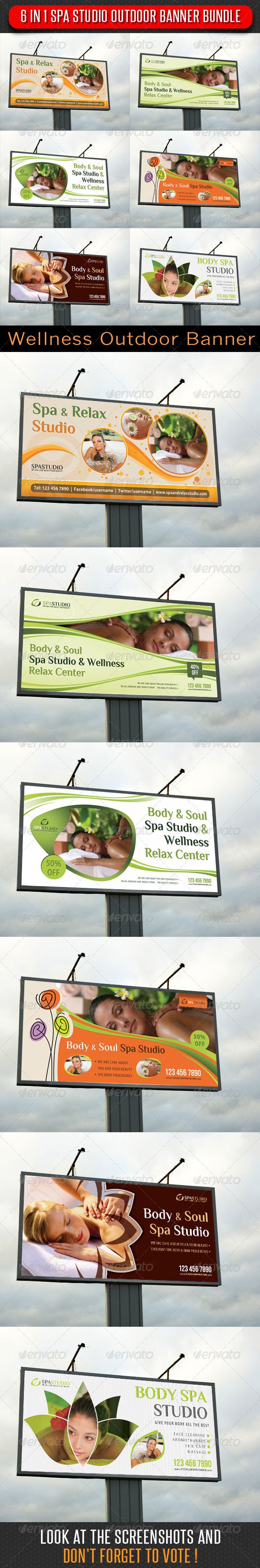 GraphicRiver 6 in 1 Spa Studio Outdoor Banner Bundle 6359271