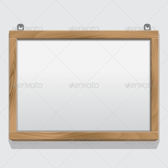 GraphicRiver Wood Frame Isolated on White 6359313