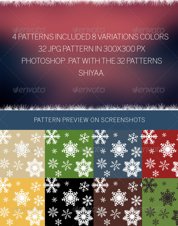 GraphicRiver Snowflakes # Pattern 6359723
