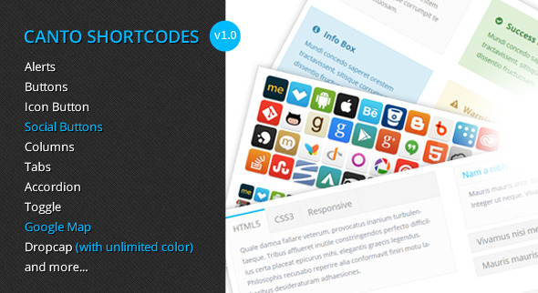 WordPress – Canto Shortcodes – Premium shortcodes plugin