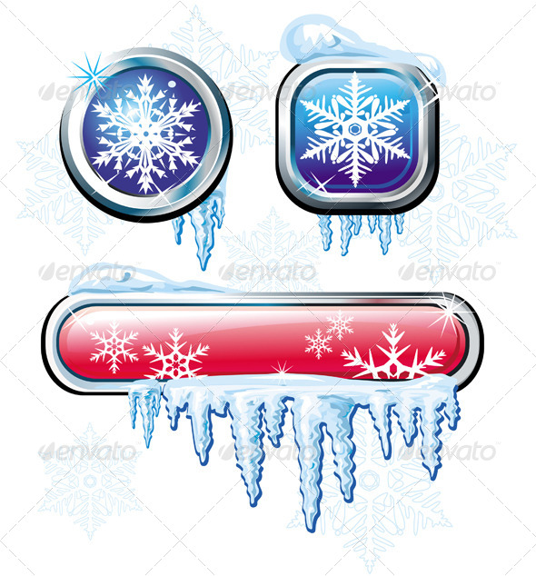GraphicRiver Winter Buttons 6359826