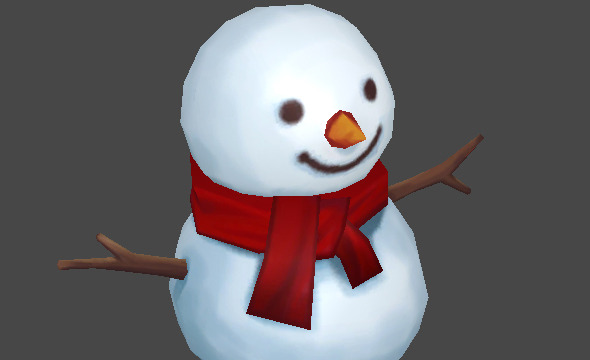 3DOcean Lowpoly Snow Man 6342505