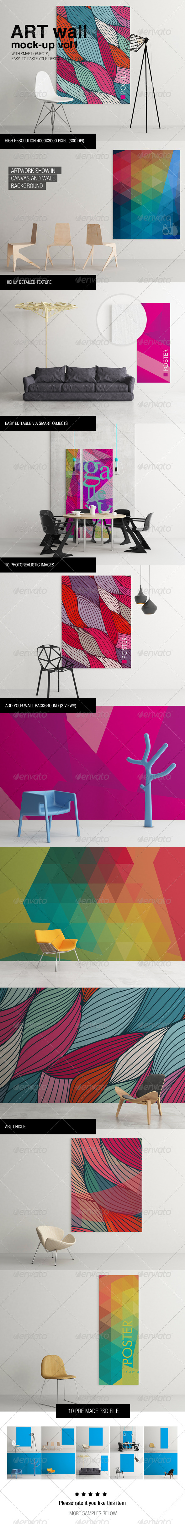 GraphicRiver Art Wall Mock-up Vol.1 6333316