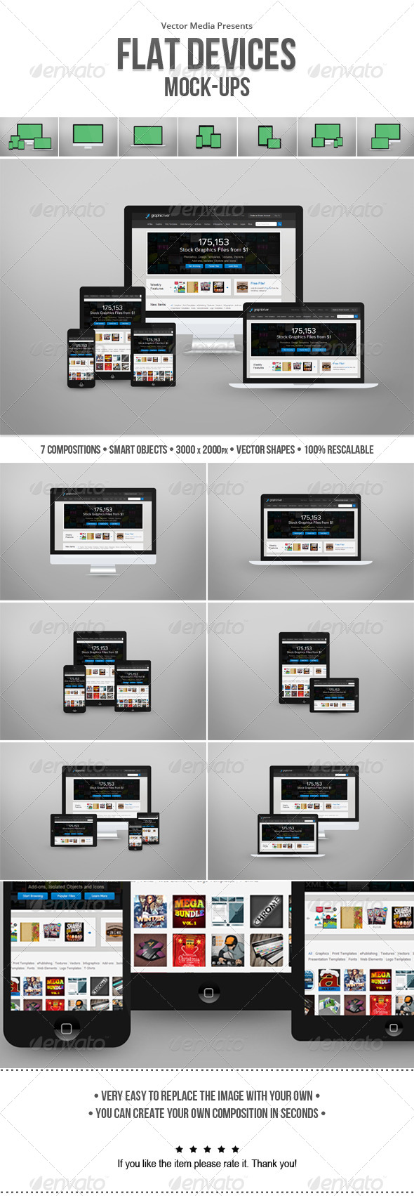 GraphicRiver Flat Devices Mock-ups 6345091