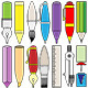 Writing Drawing and Painting Tools - GraphicRiver Item for Sale