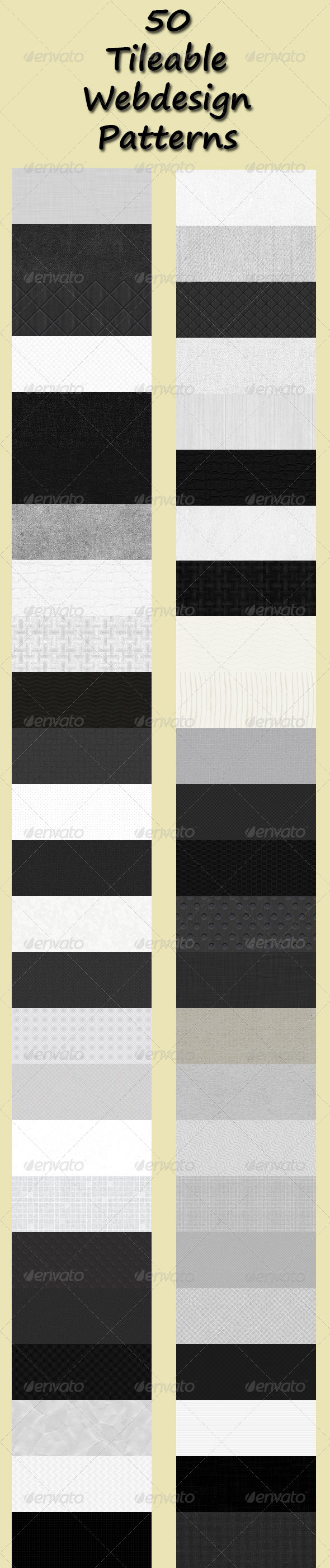 GraphicRiver 50 Tileable Webdesign Patterns 6360664