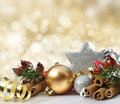 Glittery gold Christmas background - PhotoDune Item for Sale