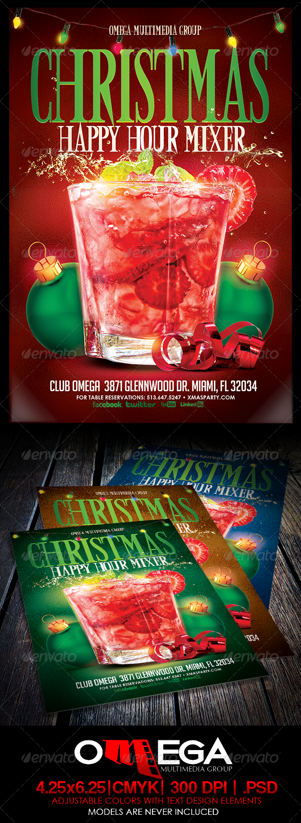 GraphicRiver Christmas Happy Hour Mixer 6360923