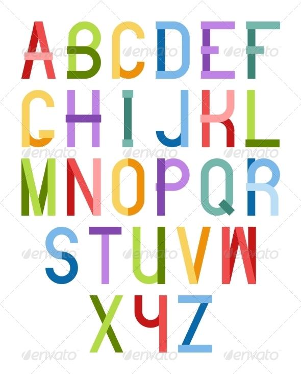 GraphicRiver Colorful Font 6360942