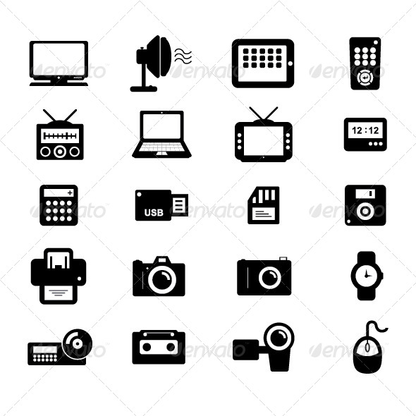 GraphicRiver Electronic and Accessories Icon 6361237