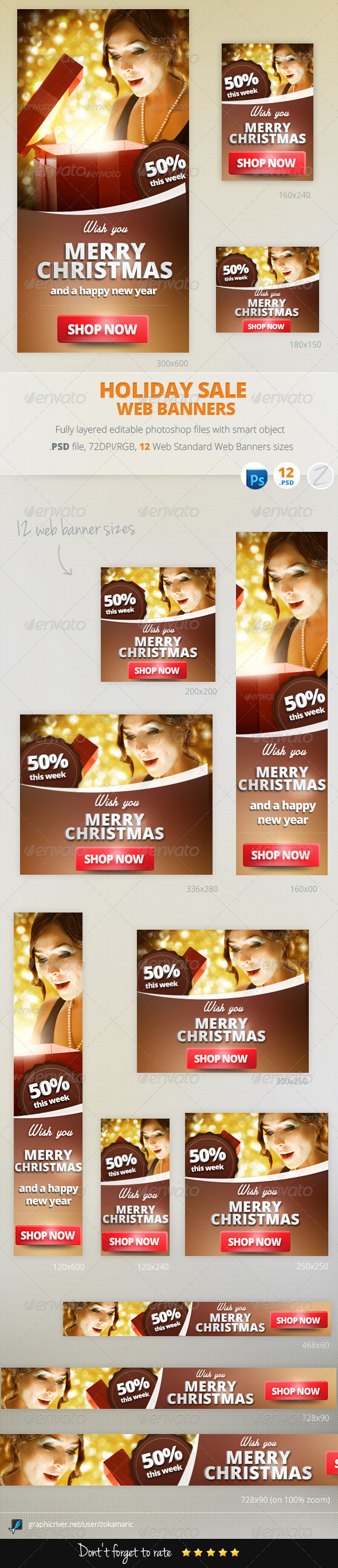 GraphicRiver Holiday Sale Web Banners 6361550