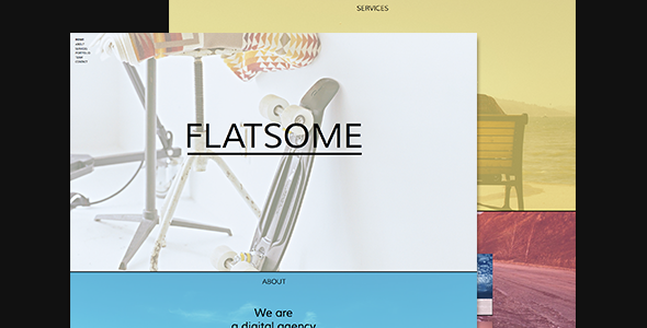 Flatsome - One Page Muse Theme - Creative Muse Templates