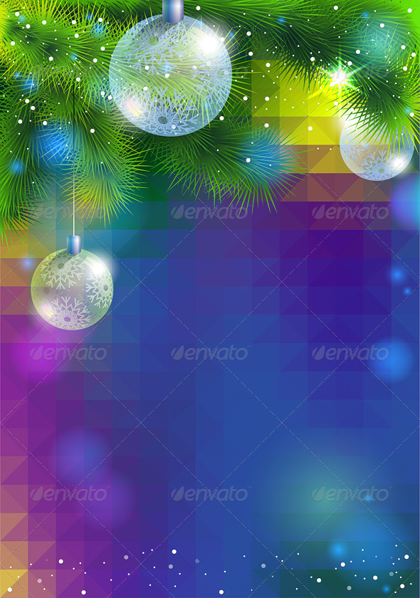 GraphicRiver New Year Flyer with Balls 6362470