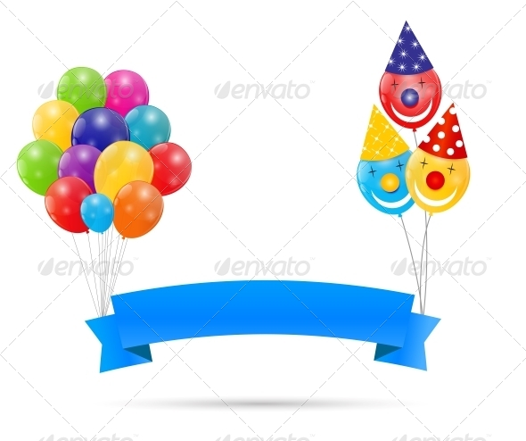 GraphicRiver Color Glossy Balloons Background 6363136