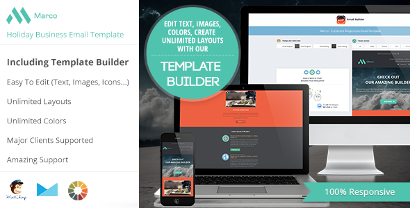 ThemeForest Marco Modern Email HTML Template With Builder 6363141