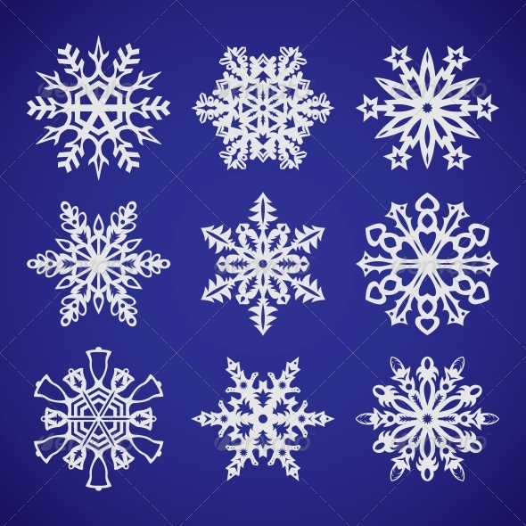GraphicRiver Collection of Snowflakes 6363291