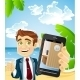 Businessman on the Beach - GraphicRiver Item for Sale