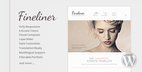 ThemeForest Fineliner Responsive Portfolio WordPress Theme 6363903