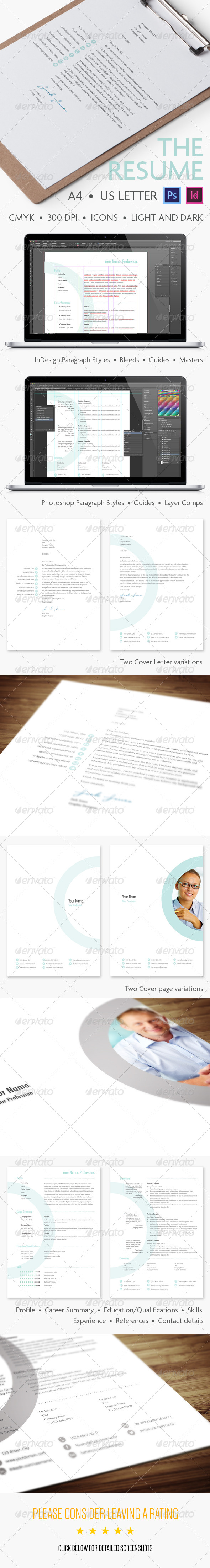 GraphicRiver The Resume A Modern Format 6363924