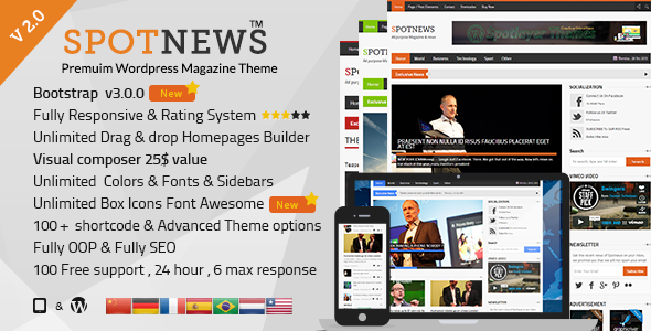 Spotnews - Responsive WordPress News, Magazine - Blog / Magazine WordPress