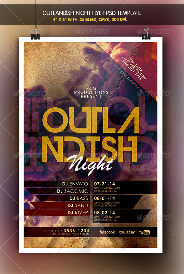 GraphicRiver Outlandish Night Flyer 6326423