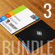 Flat Design Business Card Bundle ANB003 - GraphicRiver Item for Sale