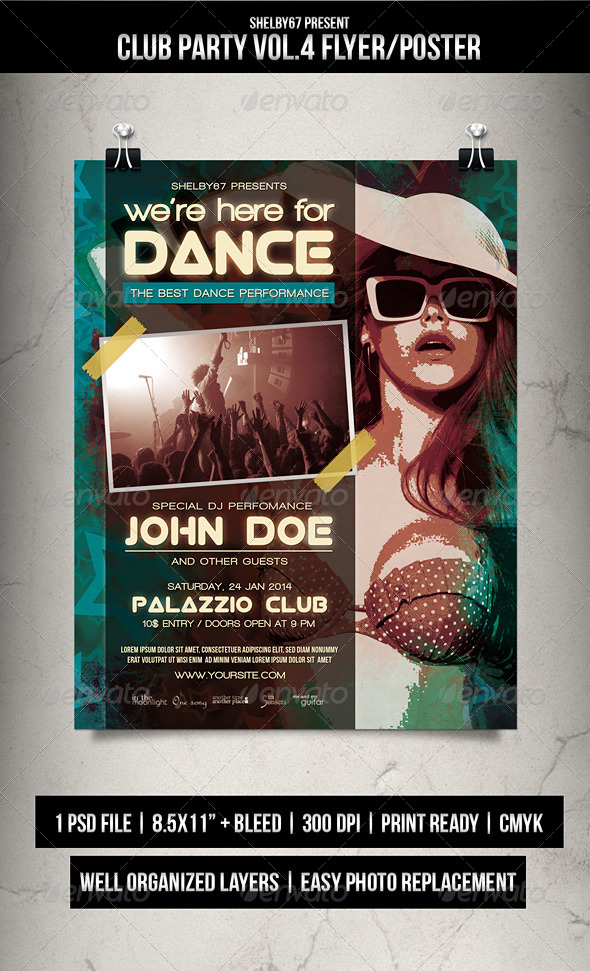 GraphicRiver Club Party Flyer Poster Vol.4 6320406